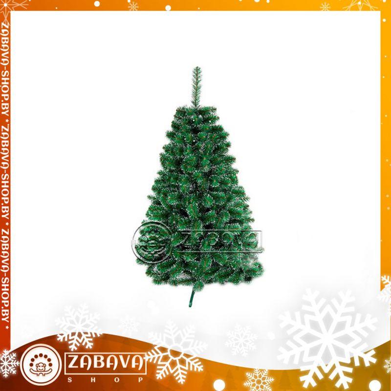 Ель (елка) искусственная классическая с белыми концами 1,2 метра