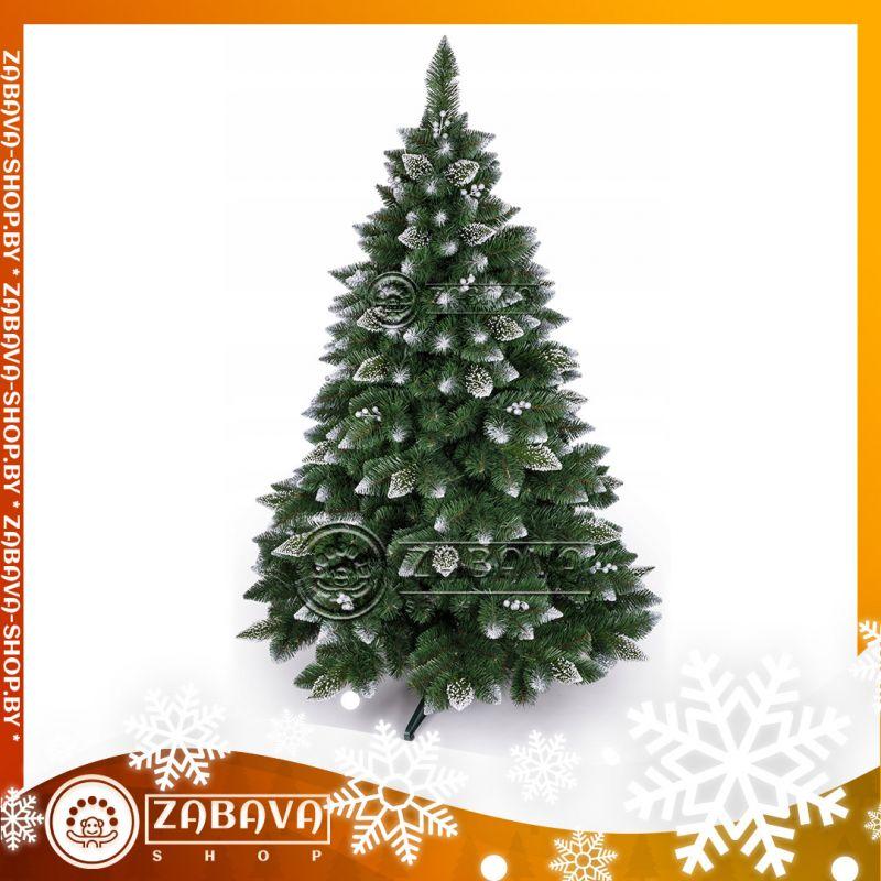 Ель (сосна, ёлка) искусственная Снежная королева белая с украшениями 2,2 метра