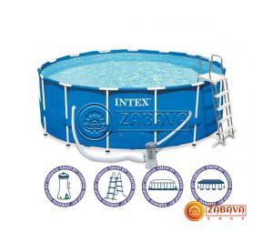Бассейн каркасный Intex 28242 Metal Frame 457x122 см