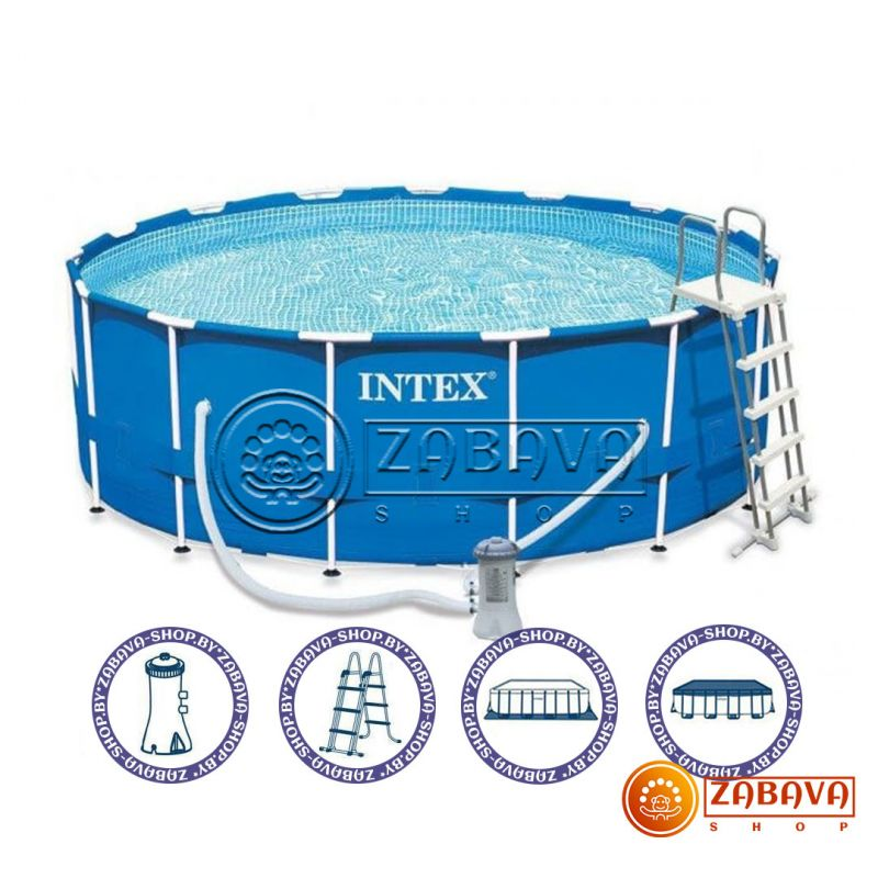 Бассейн каркасный Intex 28242 Metal Frame 457x122 см