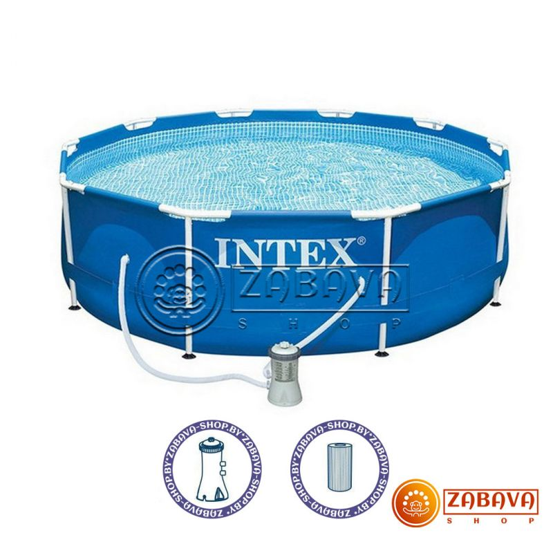 Бассейн каркасный Intex 28212 (56996) Metal Frame 366x76 см