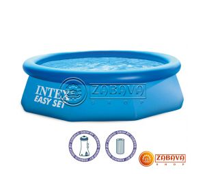 Надувной бассейн Intex 28112 (56970) Easy Set 244x76 см