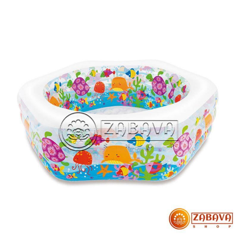 Детский надувной бассейн Intex 56493 Океан 191x178x61