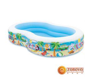 Надувной бассейн Intex 56490 На пляже 262x160x46 см