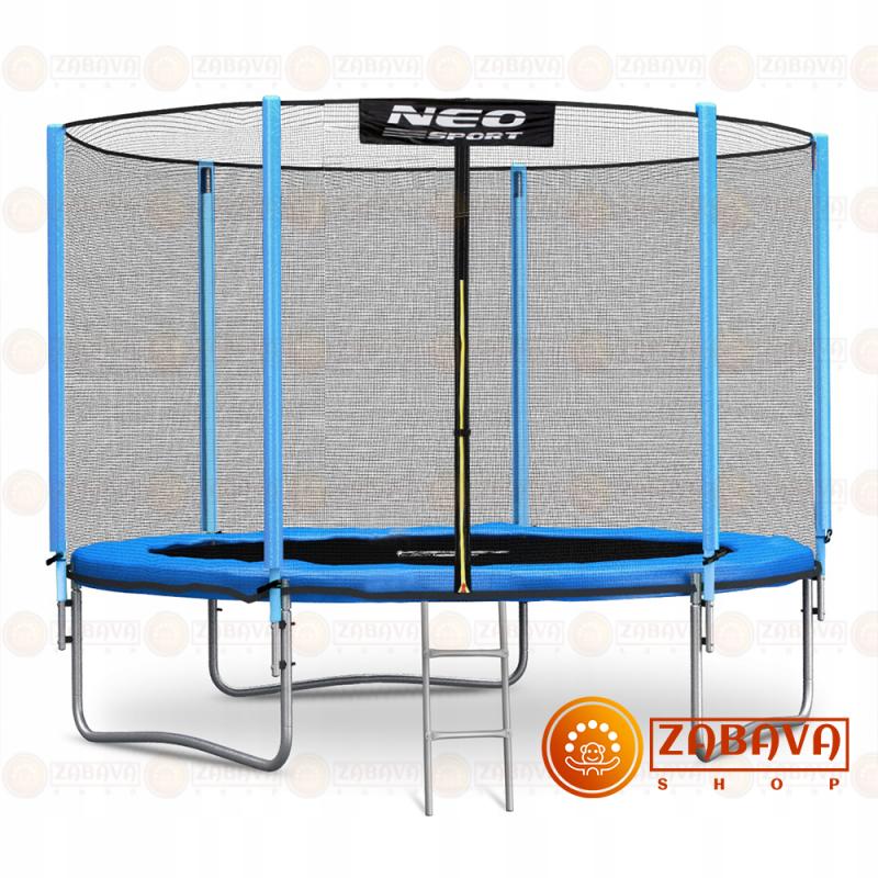 Батут Neo Sport 252 см с внешней сеткой и лестницей