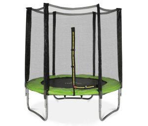Батут Atlas Sport 140 см - 4.5ft  с внешней сеткой (на пружинах) в зеленом цвете