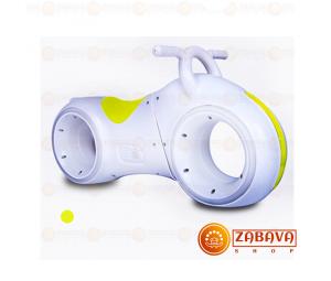 Детский беговел Star One Scooter с Led подсветкой Bluetooth и Динамиками ( белый с желтыми вставками)