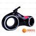 Детский беговел Star One Scooter с Led подсветкой Bluetooth и Динамиками ( черный с красными вставками)