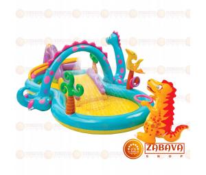 Детский надувной игровой центр Intex 57135 Dinoland Play Center