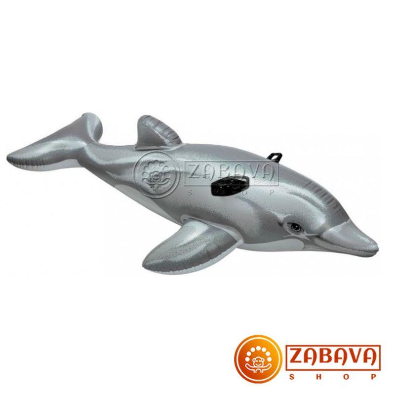 Надувная игрушка-наездник Intex Дельфин 58535NP