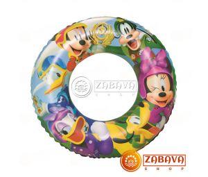 Надувной круг 56 см Микки Маус 3-6 лет, 91004