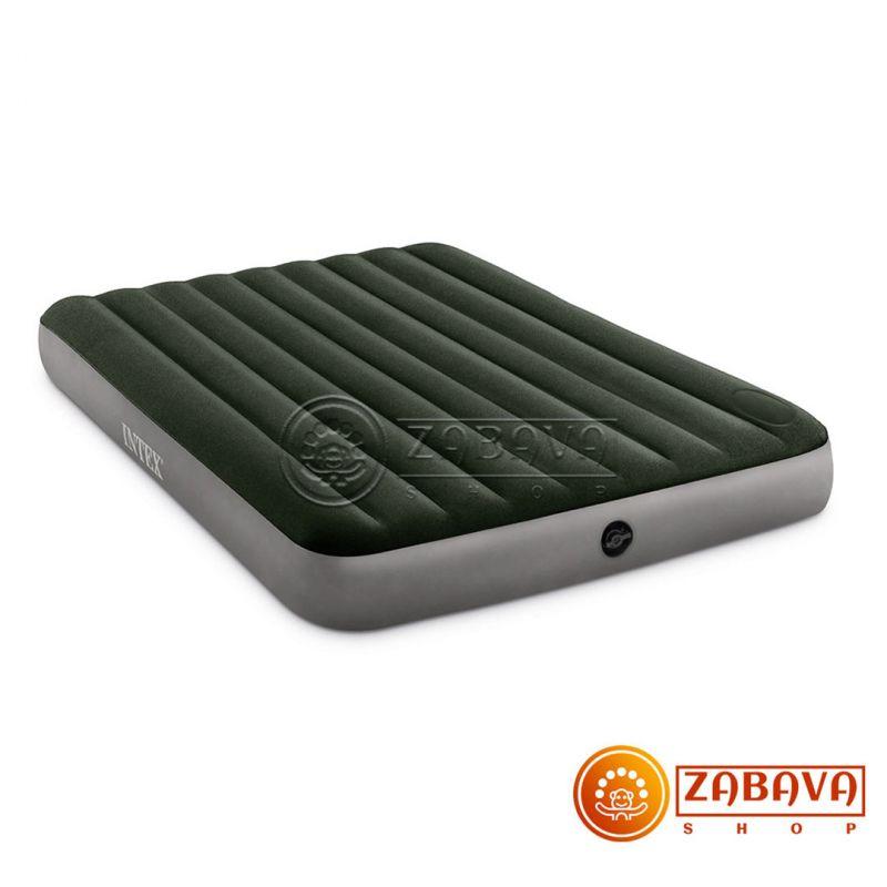 Надувной матрас Intex Downy Airbed 64763 - 152 x 203 x 25 см (со встроенным ножным насосом)