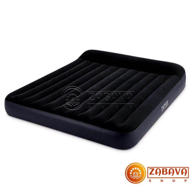 Надувной матрас Intex Pillow Rest 64143 - 152 x 203 x 25 см (с подголовником)
