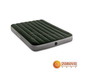 Надувной матрас Intex Downy Airbed 64762 - 137 x 191 x 25 см (со встроенным ножным насосом)
