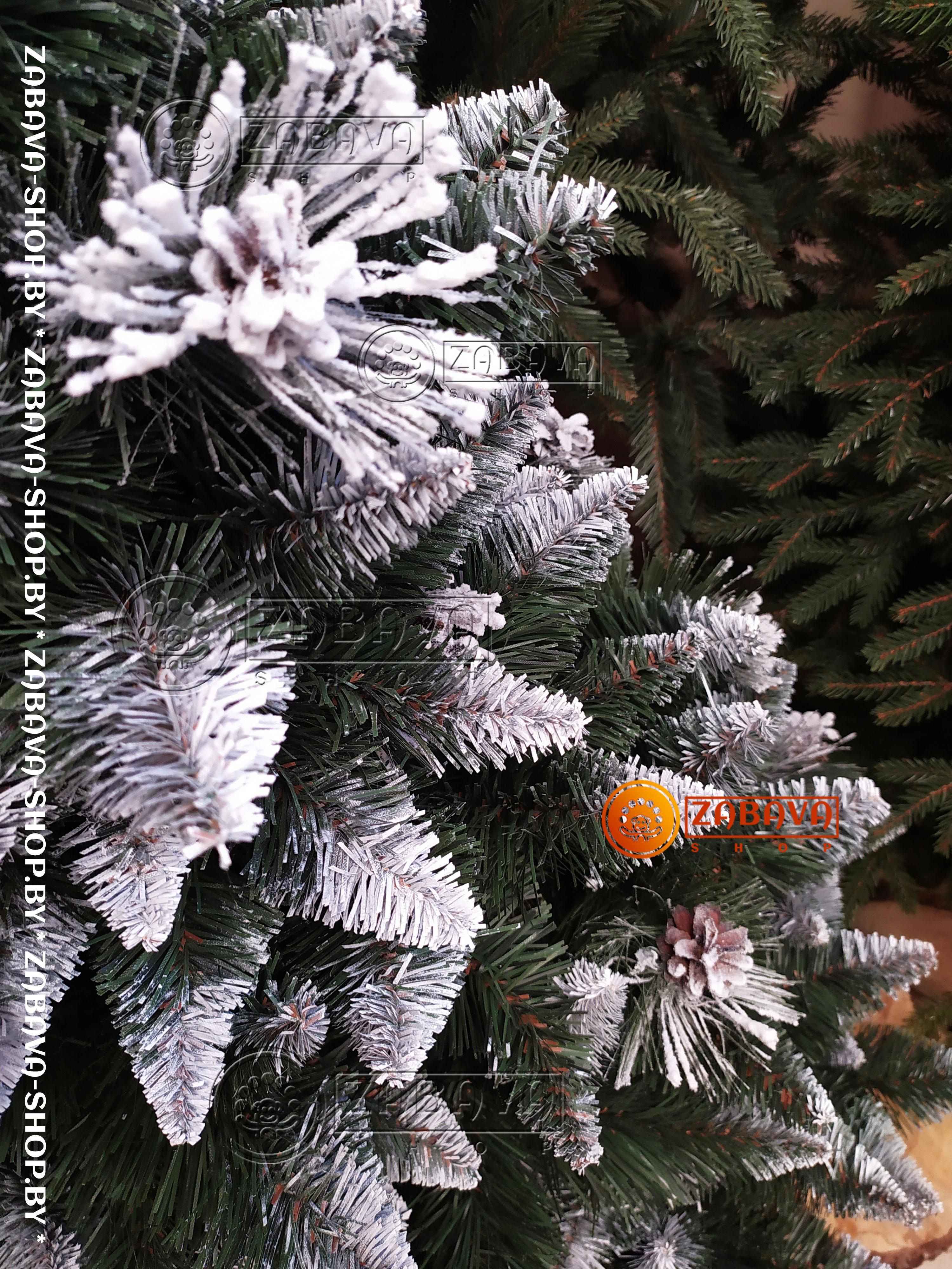Сосна искусственная Сибирь Заснеженная 2,5 метра - zabava-shop.by