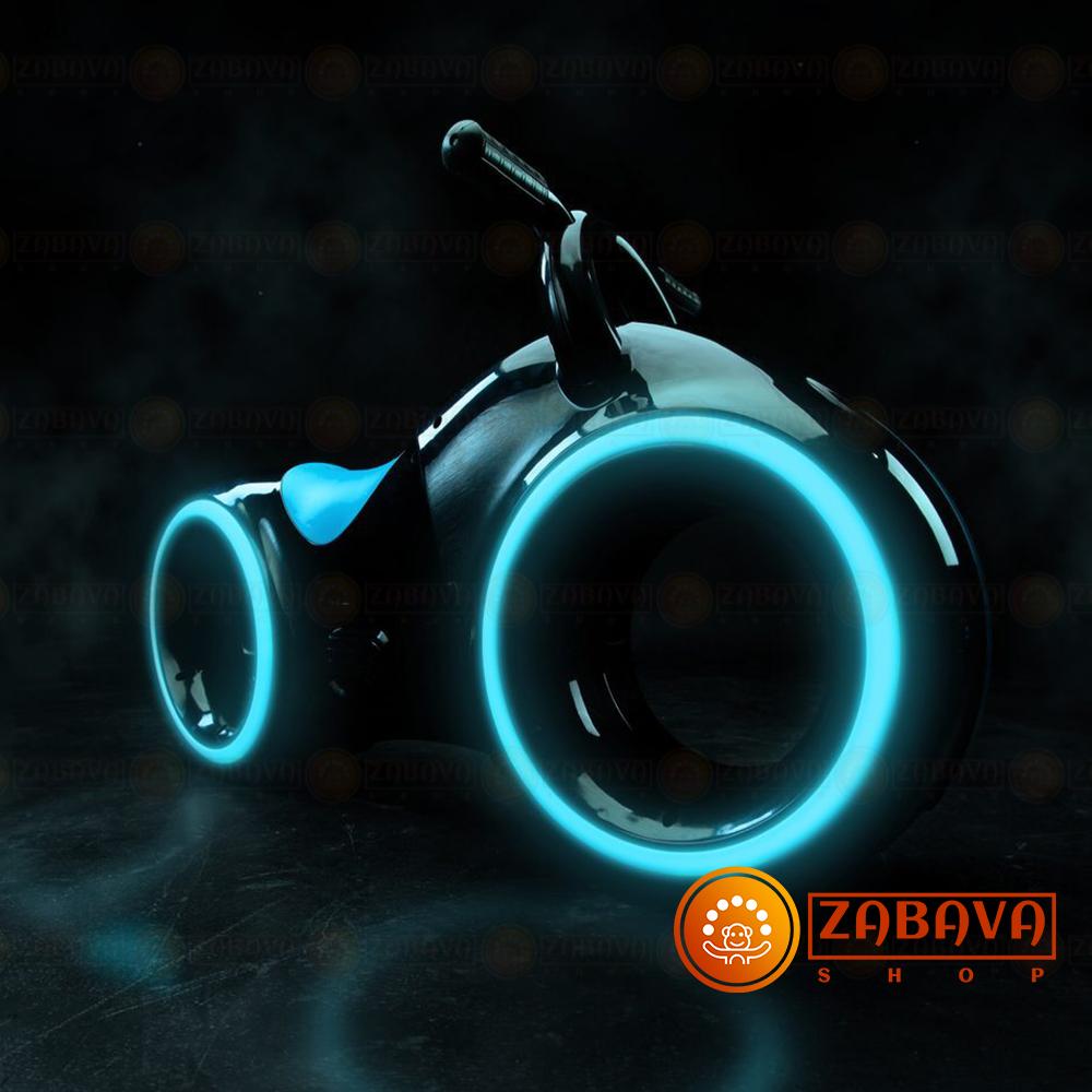 Беговел Tron Bike чёрный с синими вставками