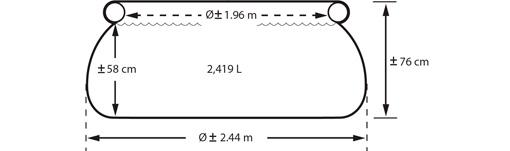 Размеры надувного бассейна Intex 28112